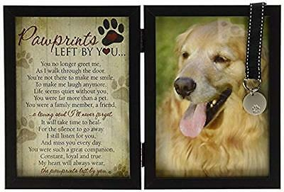 Grandparent Gift Company Pawprints Memorial Pet Tag Frame - Left By