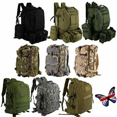 30/40/50L Military Tactical Army Rucksacks Molle Backpack Camping Hiking Bag