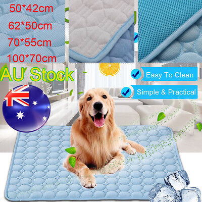 Pet Cool Cooling Gel Mat Dog Cat Bed Non-Toxic Dog Summer Pad 4 Sizes AU Stock