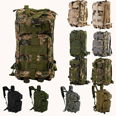 30L Military Tactical Army Backpack Rucksack Camping Hiking Travel Bag