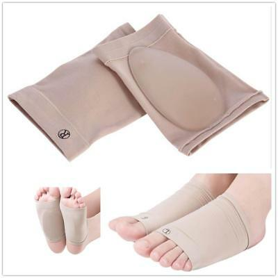 GEL ARCH Plantar Foot Heel Pain Fasciitis Orthotic Support Sleeve Cushion Insole