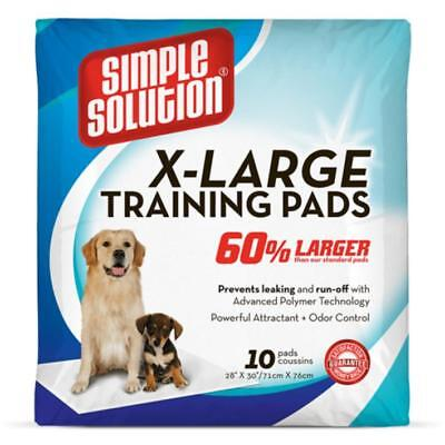 SIMPLE SOLUTION Absorbent XL TRAINING PADS Puppy Dog Toilet Mats 70x75cm 10pk