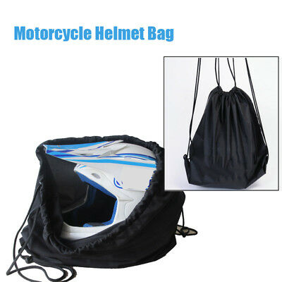 Motorcycle Motorbike Crash Helmet Helmets Lid Protect Bag Draw pocket