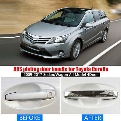 69A3 ABS Accessories Side Door Handle Chrome Covers Trims