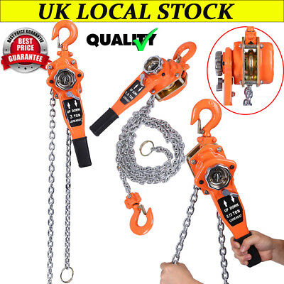 RoadCrew 500kg x 3mtr Chain Block /& Tackle Hand Lifting Rigging Pulley Hoist