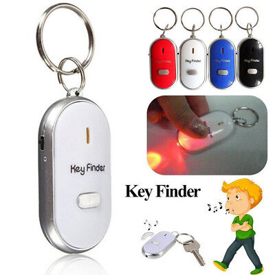 Whistle Anti-Lost Key Chain Keyring LED Light Beep Sound Control Lacator Torch