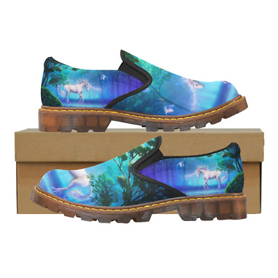 Custom Womens Slip On Loafer Unicorn Horse Shoes Comfy Ladies Casual Flats
