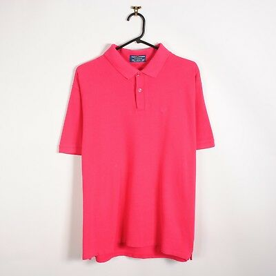 Vintage 70s/80s Fred Perry Polo Shirt in Pink Short Sleeve L Made in England