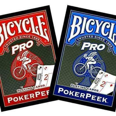 Mazzo di carte Bicycle Pro - Poker Rider Back PokerPeek - dorso rosso
