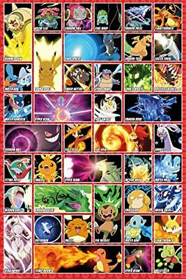 Pokemon Moves Gaming Anime Maxi Poster Print 61x91.5cm | 24x36 inches