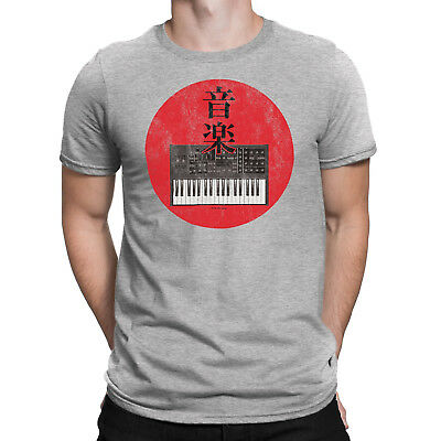 Mens JAPAN SYNTH Synthesizer Keyboard Electric Japanese Novelty Music T-Shirt