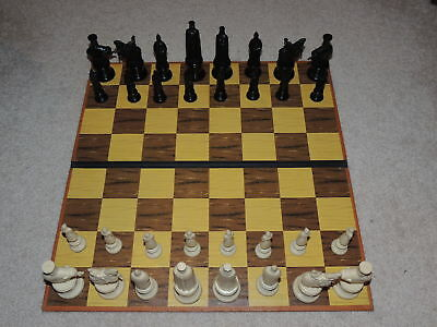 Nice Vintage Chess Set And Board