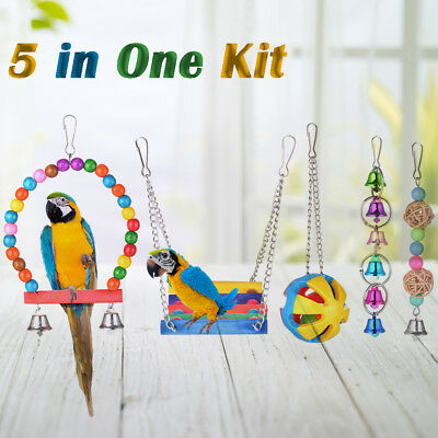 Bird Hammock Toy for Small Parakeets Cockatiels, Conures, Macaws, Parrots PS258