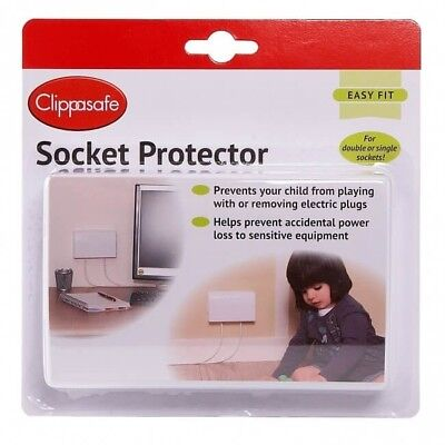 Clippasafe Double Socket Protector - Grey - Warehouse Clearance