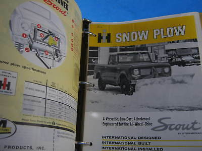 1969 Ih Scout Bulletins Catalog Dealer Sales Data Brochures Attachments Etc