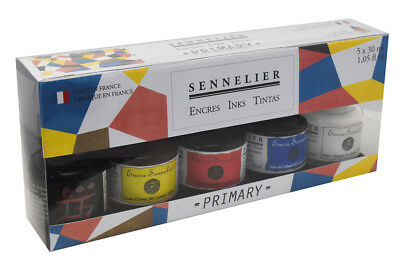 Sennelier Artist Drawing Ink Primary Colours Gift Starter Set 5 x 30ml