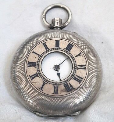 Solid Silver Half Hunter Pocket watch.