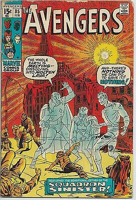 **the Avengers #85**(1963 Series, Marvel)**1St App. Of Squadron Supreme**gd**