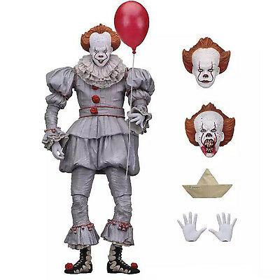 """Ultimate Stephen King's It Pennywise Clown Joker 7"""" Action Figure Model Toy Gift"""