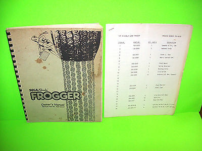 Arcade Gaming Manuals & Guides Sega Gremlin Frogger Arcade Video Game Original Manual