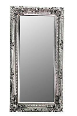 Louis Silver 176x90cm Leaner Mirror Nice Strong Contruction Baroque Style Frame