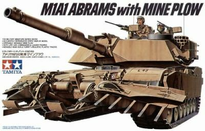 M1A1 Abrams with Mine Plough - 1/35 Military Model Kit - Tamiya 35158