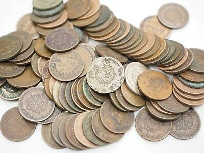 Indian Cent Cull Lot 1800's-1900's 100 Coin Lot Free USA Shipping