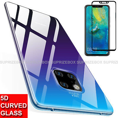 Case For Huawei Mate 20 Pro Silicone Gel Cover 5D Curved Glass Screen Protector