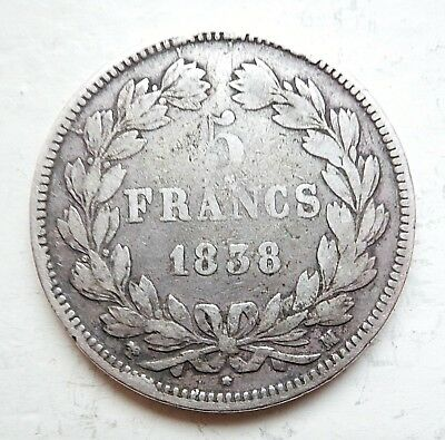 LOUIS-PHILIPPE  5 francs 1838 MA