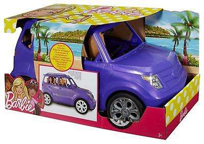 Barbie Glam 4 Seater SUV JEEP Car Dolls Vehicle In Sparkle Purple Girls Toy Gift