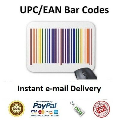 250 UPC EAN Numbers Barcodes Bar Code Number for e Commerce US UK EU CA IN TR