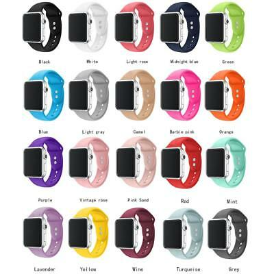 Simple Replacement Silicone Sport Band Strap For Apple Watch 38mm 42mm iWatch 4
