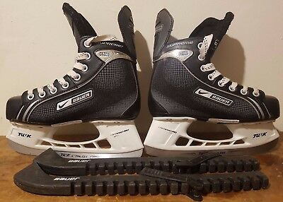 Nike Bauer Ice Skates One05 Mens Shoe Size UK 3.5 With Guards