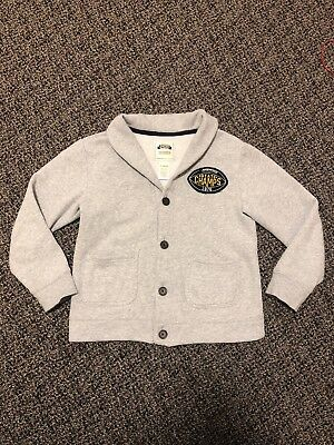 Gymboree Fleece Lined Boys Cardigan. Size 7-8.
