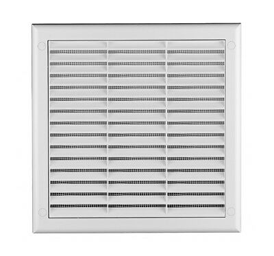 White Air Vent Grille with Fly Screen / Anti-Insect Mesh Ventilation Cover