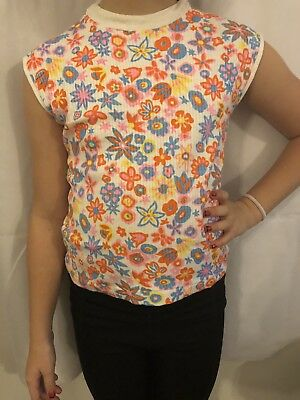 Cuckoo 1970's Floral Top 6 Years