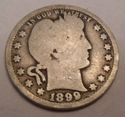 1899 P Barber Quarter   *90% SILVER*   *AG OR BETTER*   **FREE SHIPPING**
