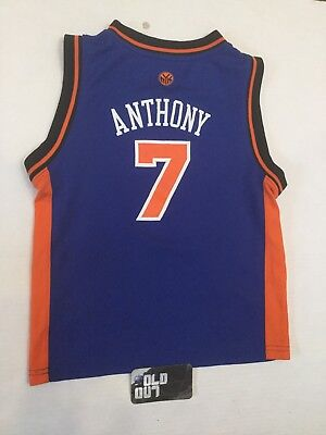 ed904c749 Carmelo Anthony New York Knicks NBA Adidas Toddler Jersey Size 7 L Swingman