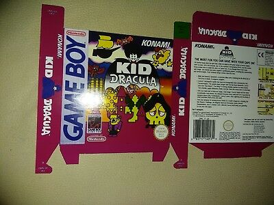 Replacement Kid Dracula box for game boy English for replacement purposes only