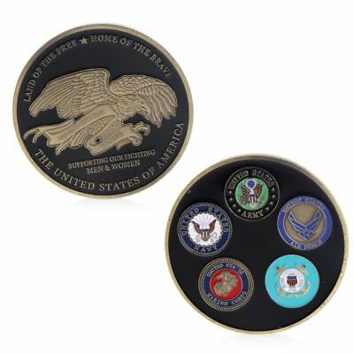 USA ARMY NAVY MARINES AIR FORCE COAST GUARD Commemorative Challenge Coin-Rare