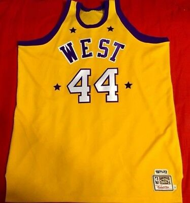 6e4771f4aae Los Angeles Lakers Jerry West Mitchell   Ness Hardwood Classics Jersey Size  60