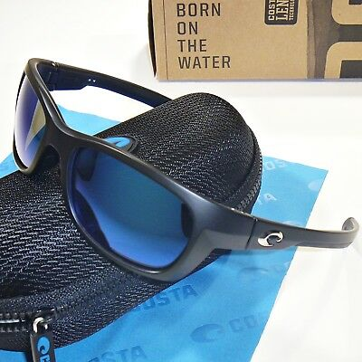 b87ca50cfe90 Costa Del Mar Trevally Sunglasses-Matte Black/Blue Mirror 400G-Polarized  Glass