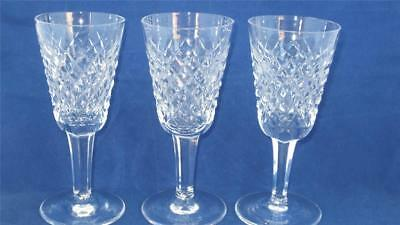 3 WATERFORD Crystal Alana Port/Sherry Glasses