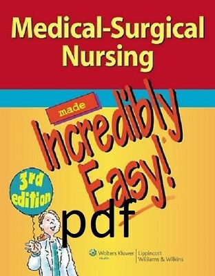 (PDF)Medical-Surgical Nursing Made Incredibly Easy! (Incredibly Easy! 3 edition