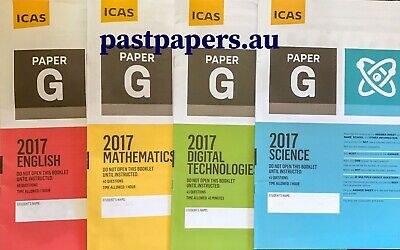 ICAS (Paper G/H) Year 9/10 Papers set ~ FAST DELIVERY
