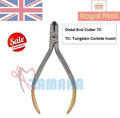 Distal end cutter TC with Safety hold orthodontic pliers , Dental pliers -UK CE