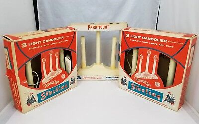 Vintage 3 Light Candolier Christmas Window Candle Set of 3 Sterling Paramount