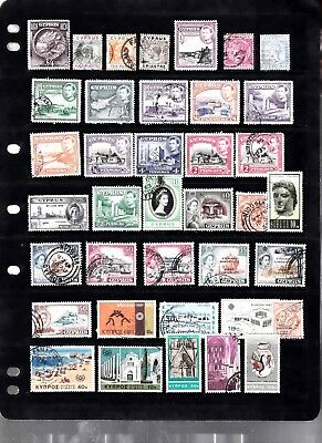 British Colonies Cyprus, Malta, Gibraltar Etc, 6 Scans Mostly Used