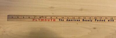 Vintage Plymouth Yardstick S.J. Reynolds Garage Poughkeepsie NY Advertising Auto