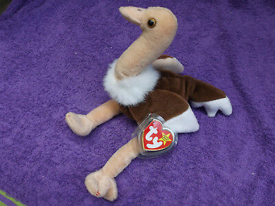 TY Beanie Babies Stretch the Ostrich 1997, retired with original tag